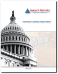 Custom Legislative Impact Report:<br>A report of lobbyists, firms and clients linked to legislation